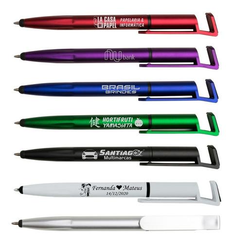 100 canetas touch personalizadas com sua logomarca