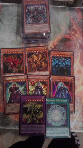 100 cartas+ dioses egipcios  yugioh