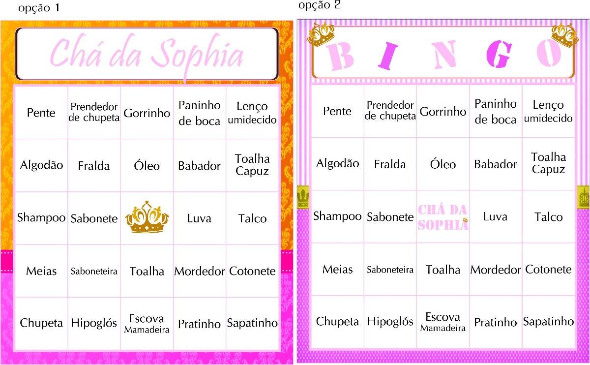 100 Cartelas Baby Bingo Chá Bebê *personalizada* Envio Email - R$ 40,00 em  Mercado Livre