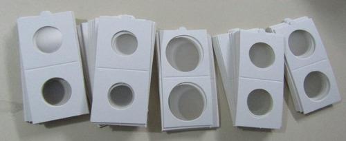 100 cartones vk para monedas 20 22 25 27 30 34 40 mm