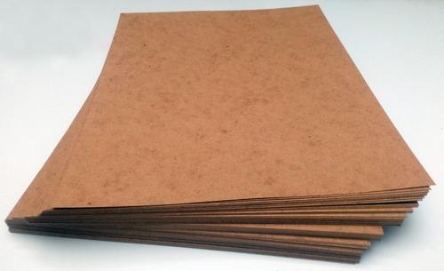 100  cartulina kraft tamaño carta color natural 28x21.5cm.