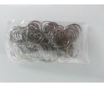 100 castanha de cristal italiana k9 + 100 argolas aço inox