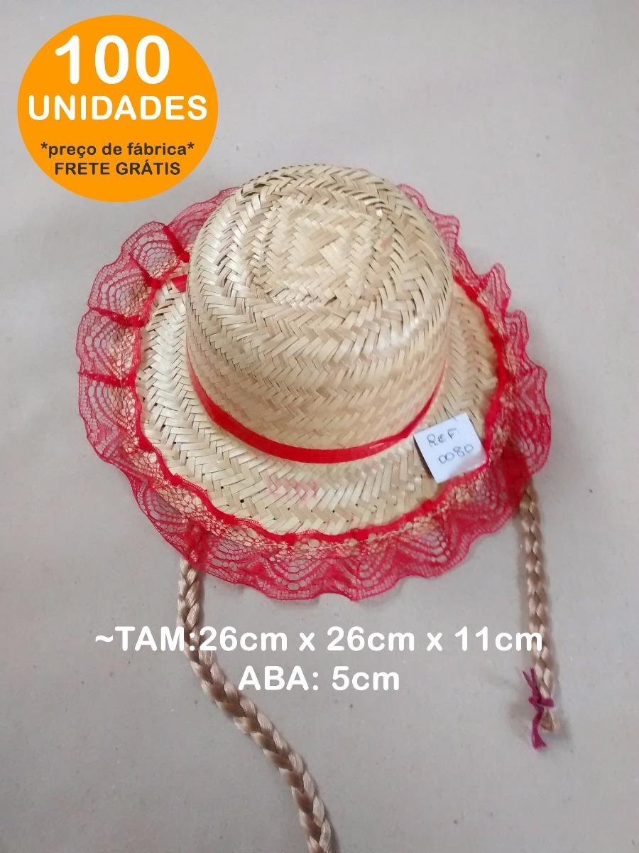 100 Chapéu De Palha Infantil C  Trança Atacado Aba 5cm 0080 - R  630 ... b6fd0f3d805