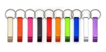 100 chaveiros abridor de garrafa, caneta personalizados logo