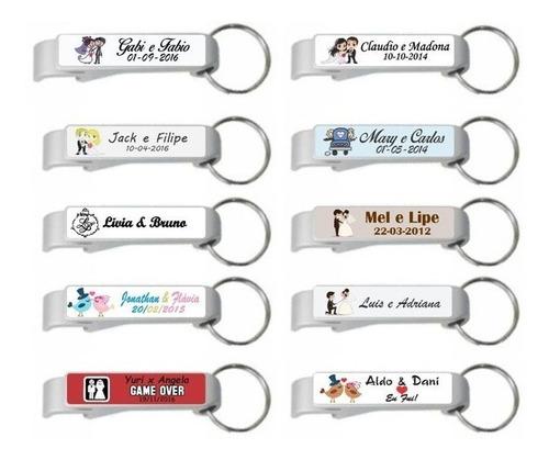 100 chaveiros personalizados com sua logomarca, casamento