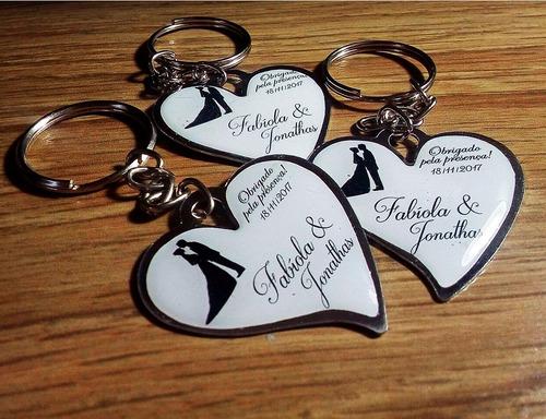 100 chaveiros resinado coração - lembrancinha personalizada