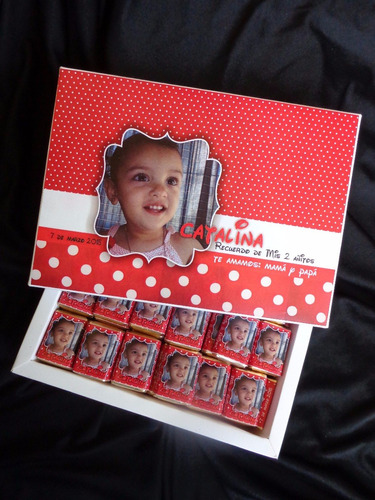 100 chocolate personalizado souvenir  babyshower 1año regalo