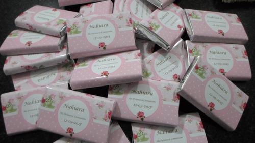 100 chocolatines georgalos 8g. personalizados zona norte