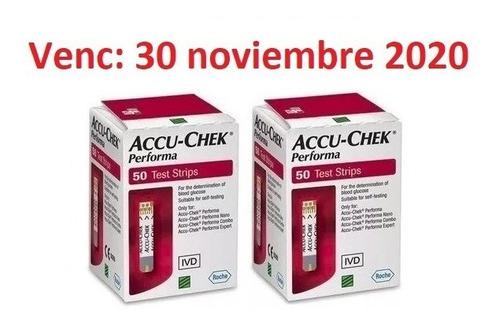 100 cintas accu-chek performa / code 222 / envío gratis