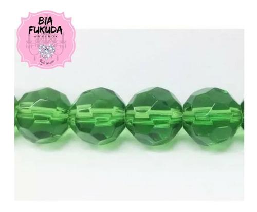 100 contas de cristal vidro verde 8mm umbanda candomblé