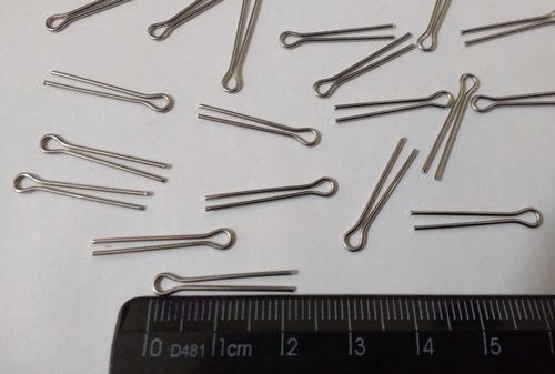 100 contrapino  cupilha aço inox 1,6mm x 22 mm para lustres