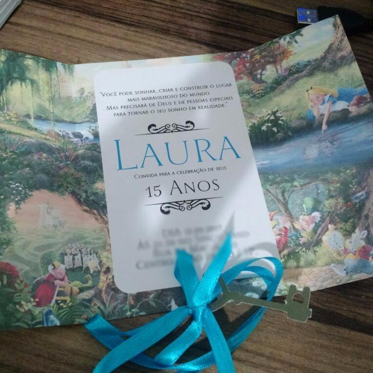 100 Convites Alice No País Das Maravilhas 15 Anos Infantil R 255