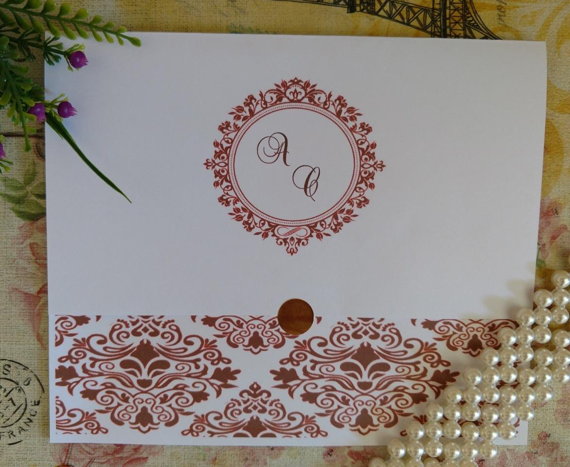 100 Convites De Casamento Arabesco Diversas Cores R 1 19 Cd R