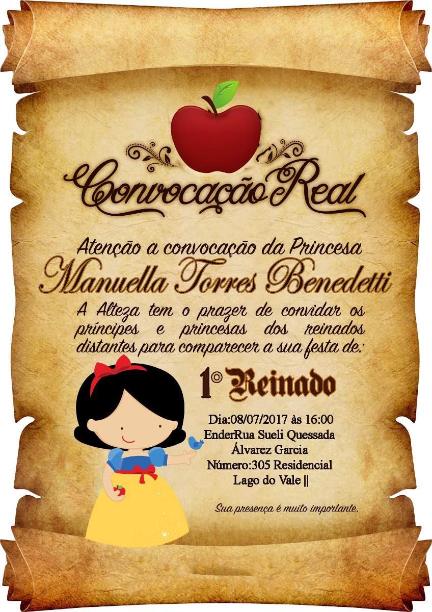 100 Convites Pergaminho Branca De Neve Cut R 13000 Em Mercado Livre