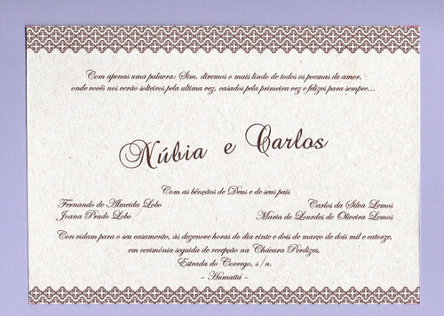 100 convites rústicos para casamento frete grátis