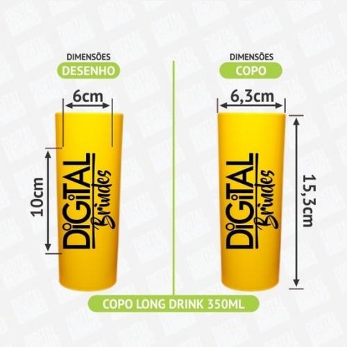 100 copos 15 anos long drink personalizado + frete grátis