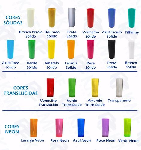 100 copos long drink acrílico liso - mega promoção!