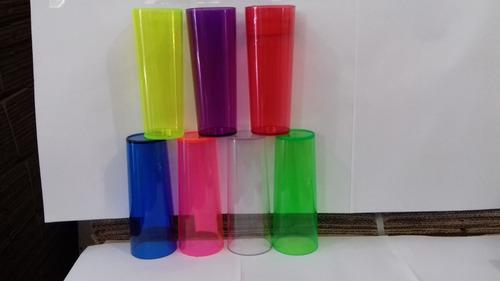 100 copos long drink acrilico para personalizar