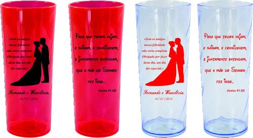100 copos personalizados: formatura, aniversário, casamento.