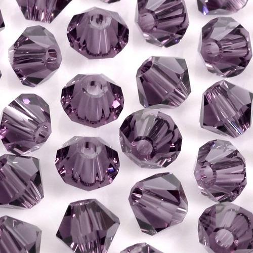 100 cristais balão preciosa lilás 04mm noivas bordados