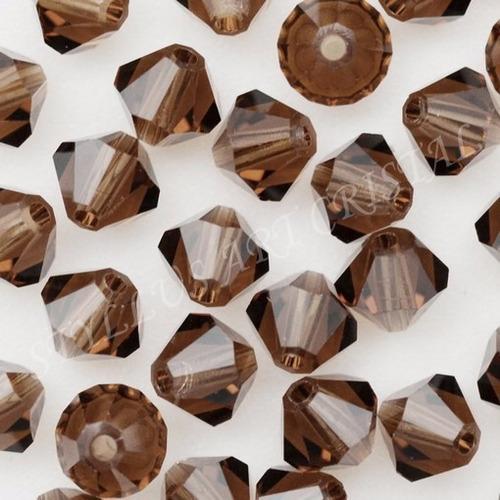 100 cristais balão preciosa marrom 04mm noiva bordado