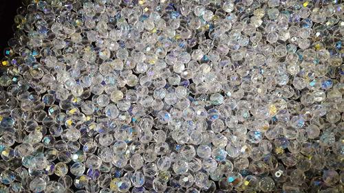 100 cristais bola com furo jablonex 04mm aurora boreal