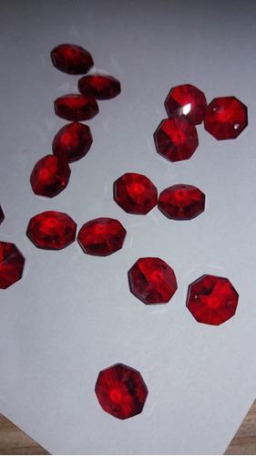 100 cristais castanha cor vermelho com 2 furos para lustres