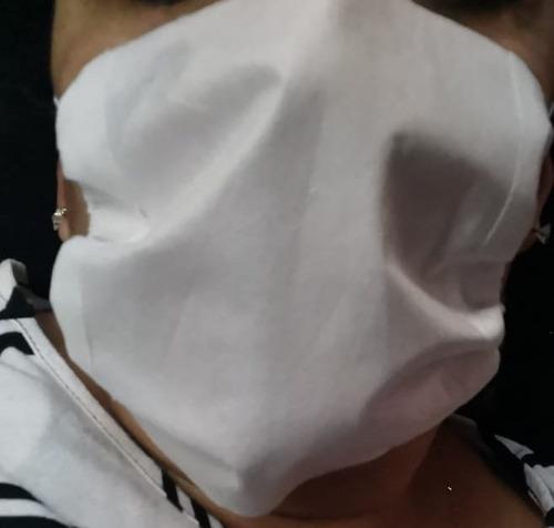100 cubrebocas triple capa liso blanco