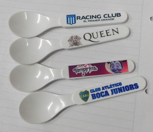 100 cucharas polímero personalizadas