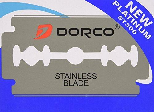 100 cuchillas afeitar doble filo dorco de acero inoxidable.