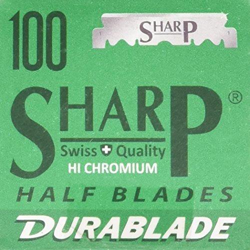 100 cuchillas de afeitar sharp en acero inoxidable.