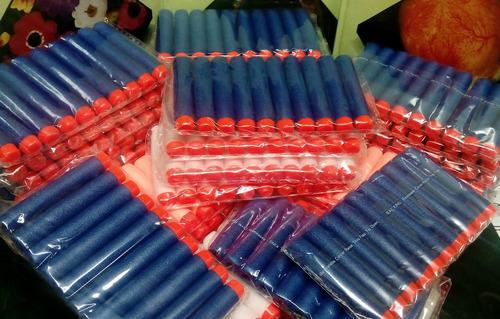 100 dardos p/ nerf n-strike elite blaster rampage deep blue