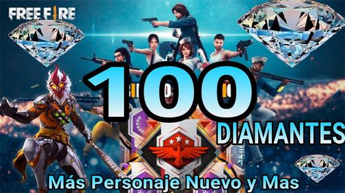 100 diamantes free fire y premios diamantes mas