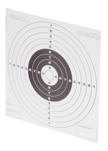 Pack de 100 dianas de carton de tiro al blanco Gamo tamaño 14x14cm
