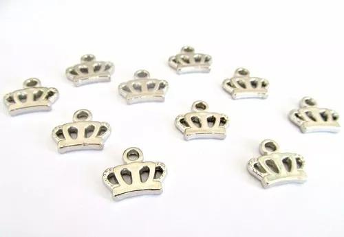 100 dijes coronas metalizadas coronitas