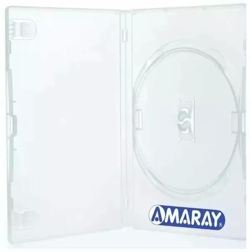 100 estojo capa amaray box transparente (max 300 p/envio)