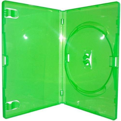 100 estojo capa box verde para dvd xbox360 filme  cd amaray