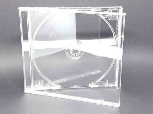100 estojo capa caixa acrilica cd box grossa transparente