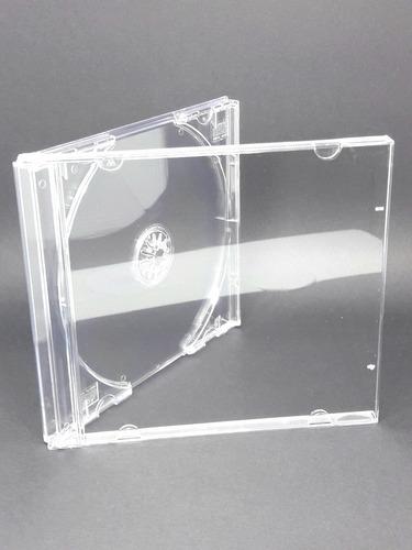 100 estojo capa caixa acrilica cd box grossa transparente ri