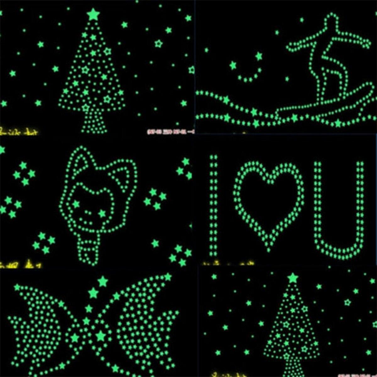 100 estrelas fluorecentes teto parede que brilham no escuro r 19 90 em mercado livre - Leuchtende wandtattoos ...