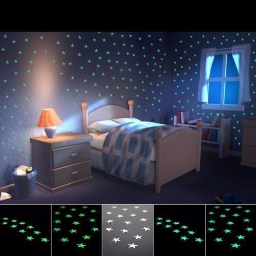 100 Estrelas Luminosas De Teto Pl 225 Stico Fluorescente