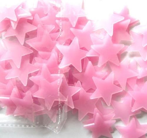 100 estrelas teto parede fluorescente adesiva brilha escuro