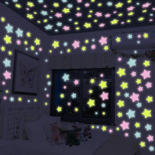 100 estrellas fluorescentes