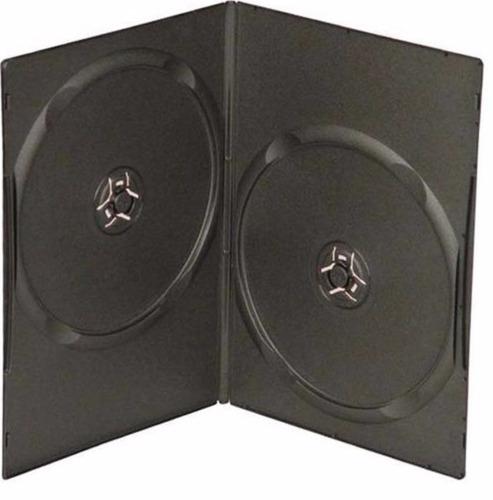 100 estuches slim 7mm dobles para dvd cd cubierta plastica