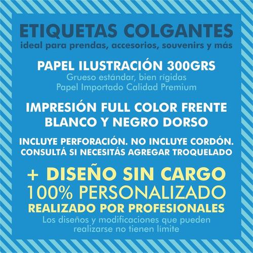 100 etiquetas colgante + 20 de regalo + perforación + diseño