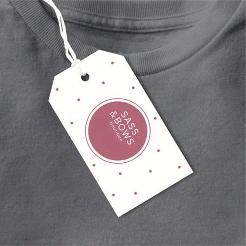 100 etiquetas colgantes 300g ropa accesorios + diseño gratis