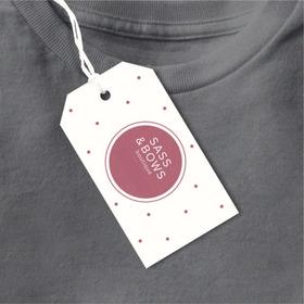100 Etiquetas Colgantes Tags Accesorios Ropa + Diseño Gratis