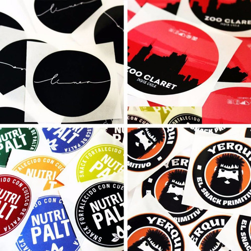 100 etiquetas impresas circulares de 10 cm de diametro