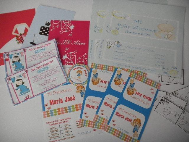 último vendedor caliente muchas opciones de nueva colección 100 Etiquetas Personalizadas Impresas Bautizo Baby Shower