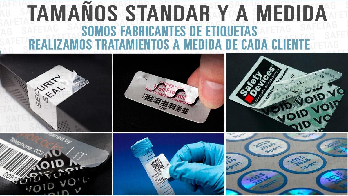 100 Etiquetas Seguridad Ultra Destructibles Cascara De Huevo - $ 249 ...